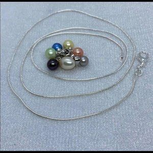 Jewelry - Pearl (real) 7 in 1 Necklace Set 925 chain
